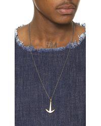 Miansai - Metallic Tumbled Brass Anchor Necklace for Men - Lyst