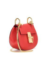 Chloé - Red Nano Drew Leather Shoulder Bag - Lyst