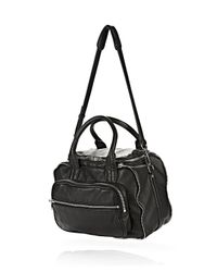 Alexander Wang - Eugene Satchel In Washed Black With Rhodium - Lyst