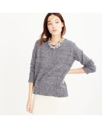 J.Crew | Black Marled Tunic Sweater | Lyst