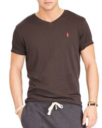 Ralph Lauren | Brown Polo Jersey V-neck Tee for Men | Lyst