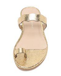 Loeffler Randall | Metallic Petal Toe Ring Sandals | Lyst