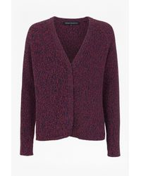 French Connection | Purple Naughty Bright Knitted Cardigan | Lyst