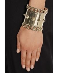 Givenchy - Metallic Pale Gold-tone Cuff - Lyst