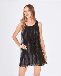 Parker - Black Bryant Sequin-Embellished Shift Dress - Lyst
