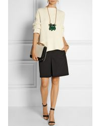 Marni - Green Leather, Resin And Horn Necklace - Lyst