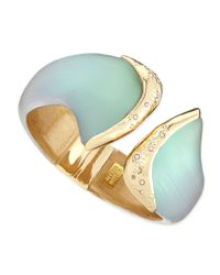 Alexis Bittar | Green Vert Deau Metal-Capped Lucite Hinge Bangle | Lyst