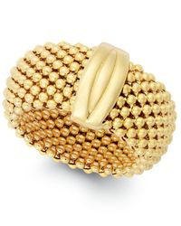Macy's | Metallic Mesh Ring In 14k Gold Vermeil Over Sterling Silver | Lyst
