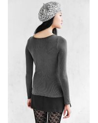 Truly Madly Deeply - Gray Callie Boatneck Top - Lyst