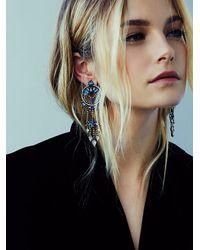 Free People | Blue Dannijo Womens Claudia Cocktail Earring | Lyst