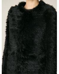 Giorgio Brato - Black Boxy Fur Coat - Lyst