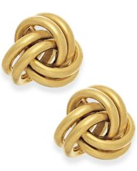 Macy's | Metallic Love Knot Stud Earrings In 10k Gold | Lyst