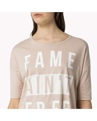 Tommy Hilfiger - Natural Cotton Large Graphic T-shirt - Lyst