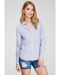 Forever 21 | Blue Contemporary Striped Shirt | Lyst