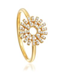 Astley Clarke | Metallic Rising Sun Small Lattice Diamond Ring | Lyst