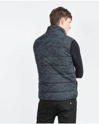 Zara | Blue Camouflage Waistcoat for Men | Lyst