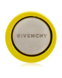 Givenchy | Yellow Lacquered Metal And Crystal Small Earrings | Lyst