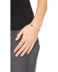 McQ - Metallic Fine Chain Swallow Bracelet - Lyst