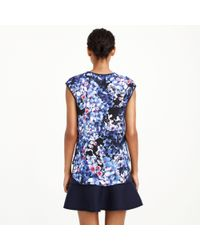 J.Crew - Blue Collection Inky Floral Top - Lyst