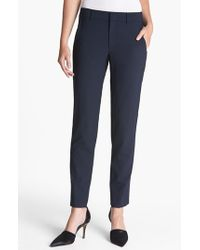 Vince | Blue 'strapping' Stretch Wool Trousers | Lyst