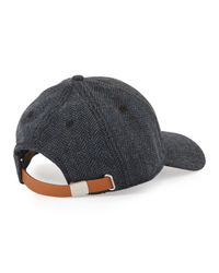 Ben Sherman - Blue Herringbone Baseball Cap for Men - Lyst
