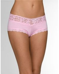 Hanky Panky | Pink Modal Logo Vikini Boyshort | Lyst