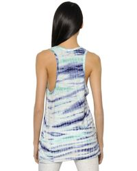 Proenza Schouler   Multicolor Tied And Dyed Cotton Jersey Tank Top   Lyst