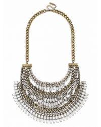 BaubleBar - Metallic Crystal Cleopatra Bib - Lyst