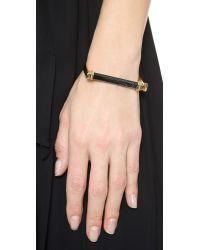 Rachel Zoe - Metallic Gavriel Hex Bar Bracelet - Gold/Onyx - Lyst