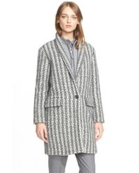 Eleventy | Gray Houndstooth Wool Coat | Lyst