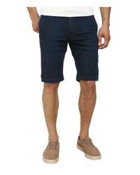 Agave | Blue Griff Birdseye Stripe Flex Shorts for Men | Lyst