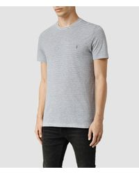 AllSaints | Gray Baltis Tonic Crew T-shirt for Men | Lyst