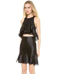Karla Špetic - Black Pleated Colette Top - Lyst