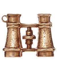 Annina Vogel | Metallic Vintage Gold Binoculars Charm | Lyst