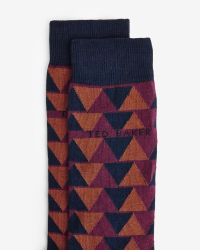 Ted Baker | Blue Triangle Pattern Organic Cotton Socks for Men | Lyst