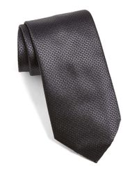Ermenegildo Zegna | Black Geometric Silk Tie for Men | Lyst