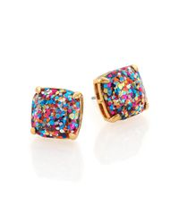 kate spade new york | Metallic Glitter Square Stud Earrings/Multicolor | Lyst