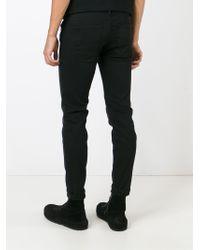 DIESEL - Black 'stickker' Skinny Jeans for Men - Lyst