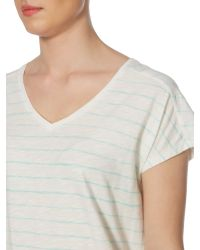 Linea Weekend | Green Brush Stripe Classic Tee | Lyst