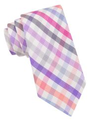 Ted Baker | Purple Checked Silk Tie for Men | Lyst
