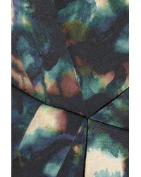 Saloni - Blue Lauren Printed Cotton-Blend Cloqué Dress - Lyst