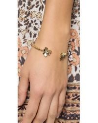 kate spade new york - Metallic Pansy Blossoms Cuff Bracelet - Lyst