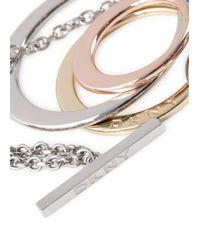 DKNY - Metallic Essentials Hoop Necklace - Lyst