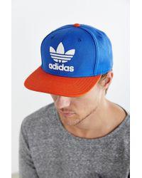 Adidas Originals - Blue Originals Trefoil Snapback Hat for Men - Lyst