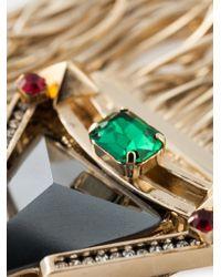 Iosselliani - Green 'Geometric Floral' Bracelet - Lyst