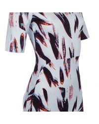 Paul Smith - Blue Painterly Camo Ribbed Dress - Lyst