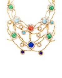 Carole Tanenbaum - Metallic 1950S Signed Original By Robert Gold Necklace With Multi Cabochons And Diamante - Lyst