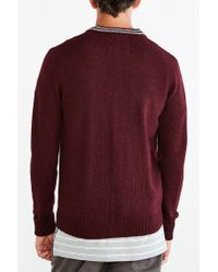 Fred Perry - Purple Cardigan for Men - Lyst