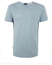 A.P.C. - Blue Hamptons Stripe Cotton-linen Blend T-shirt for Men - Lyst