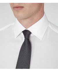 Reiss - White Columbus Cotton Point Collar Shirt for Men - Lyst
